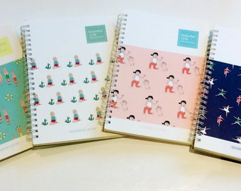 Cute note books available in 4 designs