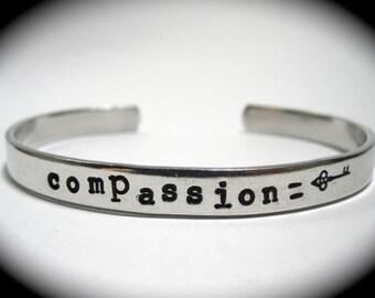 Compassion is Key- Cuff Bracelet