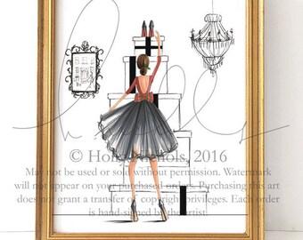 Red Sole Season (HOLIDAY Fashion Illustration Print)