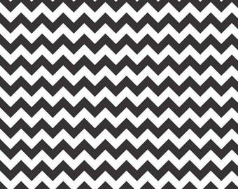 Riley Blake, Small Chevron, Black and White, Flannel, fabric by the yard