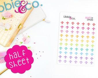 LL110 Libbie's Littles Plane Stickers, Airplane Travel Planner, Flight Times, Vacation, Trip, Erin Condren, Happy, Plum Paper, Notebook, TN