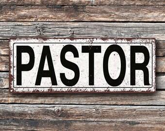 Pastor Metal Street Sign, Rustic, Vintage    TFD2034