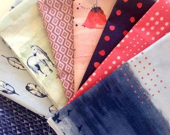 FQ Bundles  - 100% GOTS Certified Organic Cotton - Organic - Fabric by the Yard - Sustainable  - Boho - Wanderlust - Bloom - Multi - Quilt
