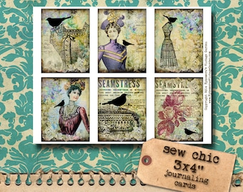 Sew Chic Journaling Cards