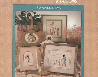 "Vintage Alma Lynee ""Swanee Days"" Cross Stitch Leaflet"