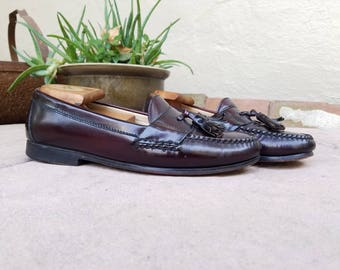 Vintage Mens 8 Cole Haan City Loafers Dress Shoes Slip On Tassel Loafers  Wingtips Leather Shoes