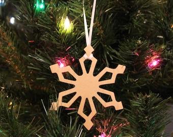 Ornament - Snowflake (A) - Maple