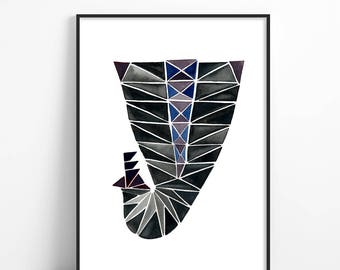 Wall art, minimalist poster, scandinavian art _ GENTRY PEACOCK _ art print, mid century modern, wall art, art deco, abstract art, art prints