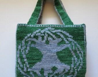 Knitting Pattern - Celtic Tree of Life Bag