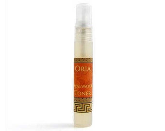 Rosewater Toner Sample by Oria, rose water toner, face toner, skin toner, alcohol free toner, natural face toner, natural skincare