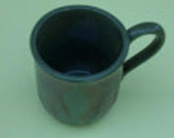 Dark Green Stoneware Cup