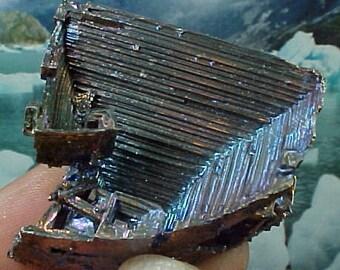 Rainbow Geometric Bismuth Crystal Mineral Specimen Excellent for Instilling Group Cohesiveness 009