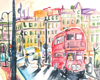 English Morning - 8x10 - Giclee Watercolor Print - Limited Art Print