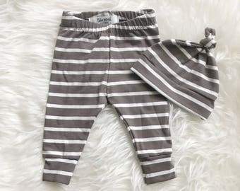 Baby legging set, baby leggings, hat and leggings set, new baby gift, baby gift set, hat and pant set, new baby legging, baby shower gift,