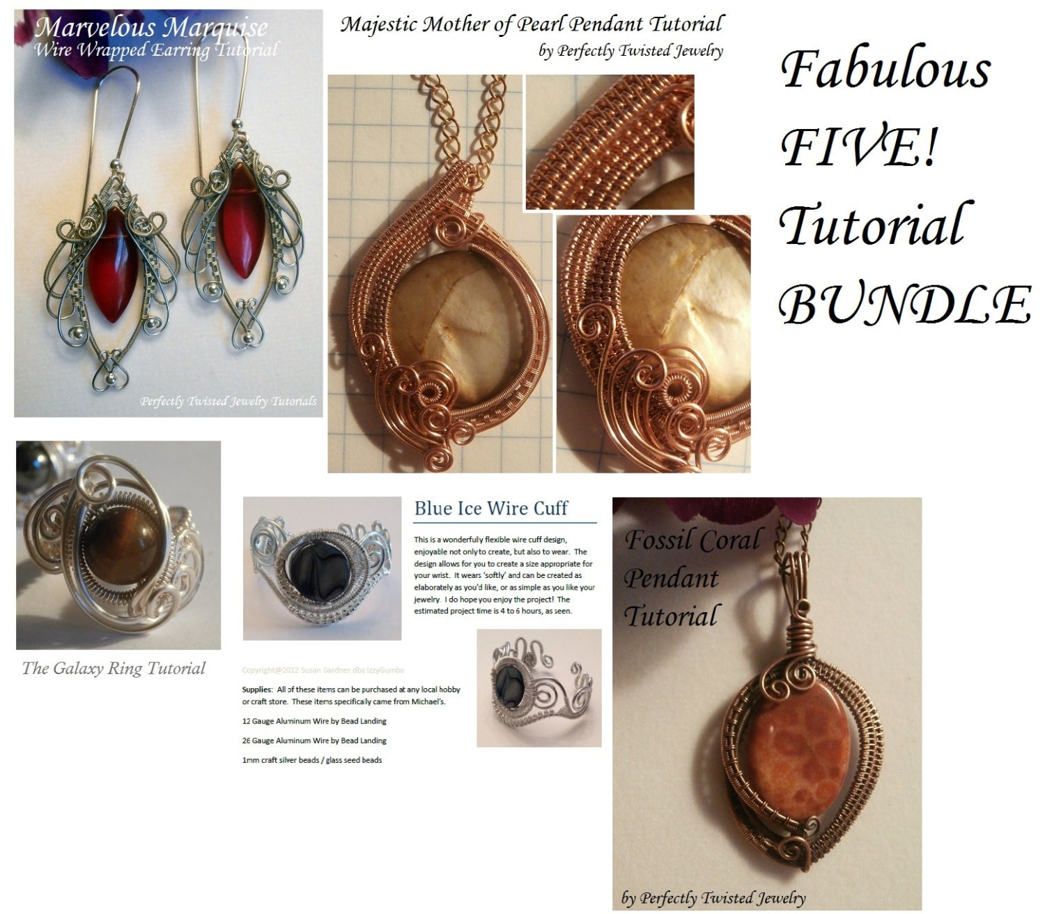 Wire Wrap TUTORIAL Bundle The Fabulous Five Wire Wrap