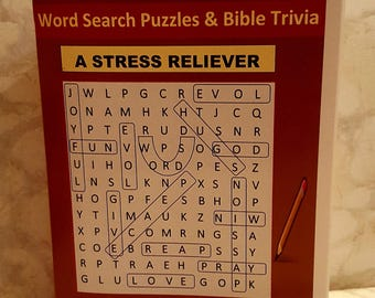 Love Word Search Puzzles and Bible Trivia Book - A Love Gift
