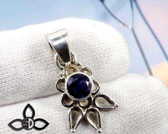 Iolite Pendant, Blue Stone Pendant, Gemstone Pendant, Handmade Pendant, Solid Silver Pendant, Dailywear Pendant, Black Friday Sale,Jewellery