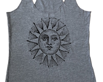 Sun Celestial Tank Top - Tri-Blend Tank - Available in sizes S, M, L