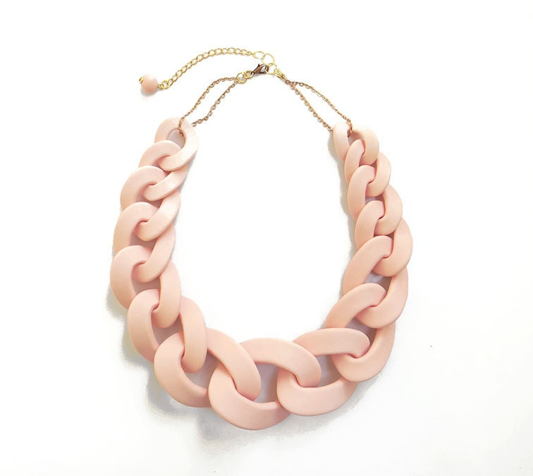 the chain classic new link matte necklace gold honor products glory