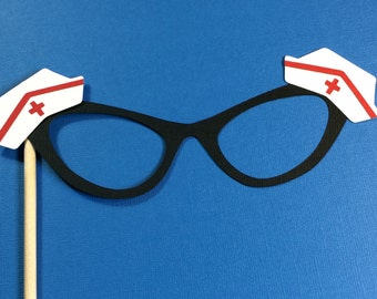 Photo Booth Props - Nurse Themed Glasses- Photo Booth