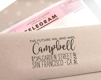 Return Address Stamp, Future Mr and Mrs stamp, Self Inking Address Stamp, Wedding Stamp,  Custom gift, Save the Date Stamp