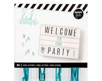 Heidi Swapp Lightbox Mini Inserts 50/Pkg-Alphabet Teal