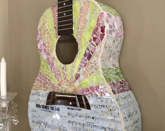 The Beatles- Here Comes the Sun mosaic guitar
