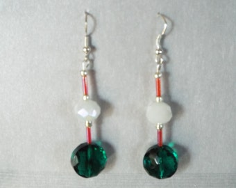 Green crystal dangles