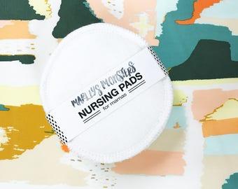 Reusable NURSING PADS. White