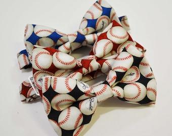 Black/Red/Royal Blue Baseball bow tie,boys bow tie,base ball bow tie,mens bow tie,baby bow tie,black bow tie,red bow tie,royal blue bow tie