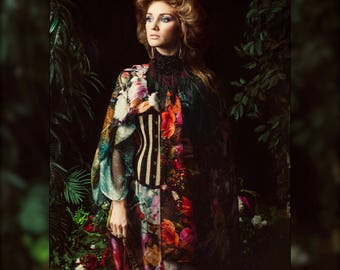 Full Length Opium Dreams Floral Caftan Dress by Louise Black custom made to your height