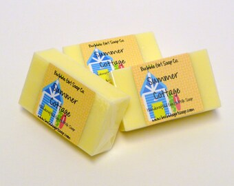 Summer Cottage Mini GUEST BAR Goat's Milk Soap Handmade SLS Detergent Free
