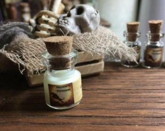 OGRE SNOT Dollhouse Miniature Halloween Potion Glow in the Dark 1:12 Doll House