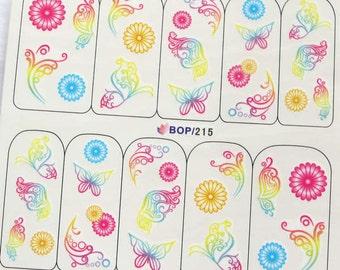 BOP-215 Nail Art Water Decal Nail Art Water Transfer Sticker DIY Nail Art