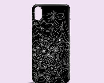 Spider Web iPhone 8 case / Halloween iPhone X case / black and white iPhone 6 case / graphic iPhone 7 Plus / Spooky iPhone 6 / iPhone SE