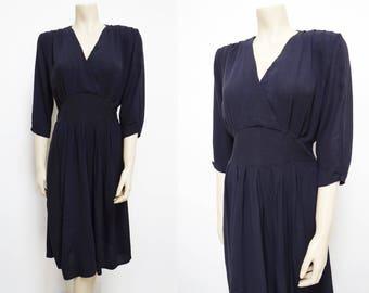 Black Dress, UK12, Vintage, 1990s, Ladies Clothing, Vintage Dress, Work Wear,Eveningwear, Vintage Black Dress, Midi Dress, Clothing, Dresses
