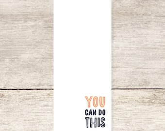 You Can Do This Unlined Notepad, Unlined To Do List