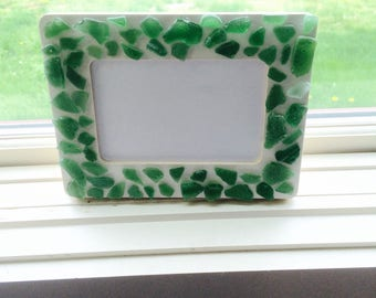 Green seaglass frame