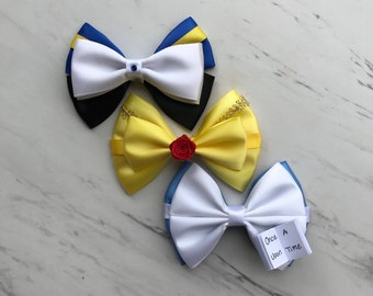 Beauty and the Beast bows, Belle bow