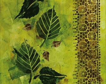 Abstract Acrylic || Garden Fresco || Free Shipping