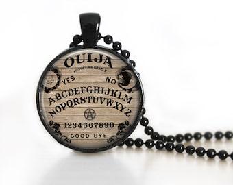 Ouija Board Glass Pendant, Photo Glass Necklace, Glass Keychain