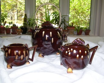 Fish Tea Set  Fish Teapot Tilso Japan Vintage