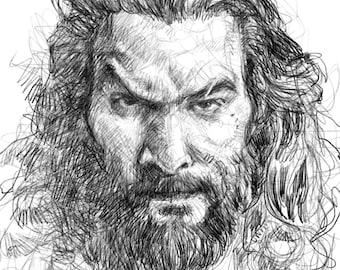 Aquaman sketching