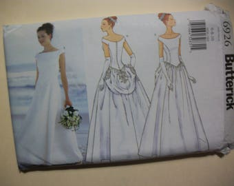 Butterick 6926 Miss/Miss Petite size  6-8-10 Bridal Gown and Bridesmaid Gown