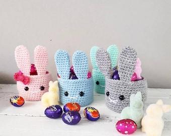 MADE TO ORDER Easter Bunny Crochet Egg Basket