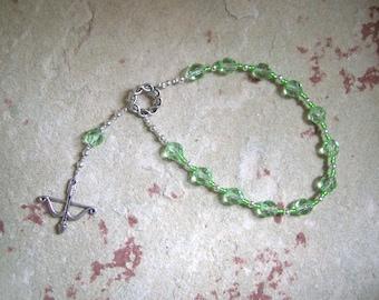 Artemis Mini Prayer Beads: Greek Goddess of the Wilderness, Wild Animals, Huntress, Protector of Young Women and Girls