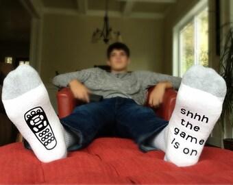 Game Day Socks - Funny Socks for Men - Gift for Him - Gift for Dad - Mens Sock - Wine Socks - Costume Socks - Novelty Gift - Fathers Day
