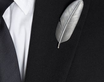 fathers day gift, Feather Tie Clip – Cool Tie Clip Sterling Silver