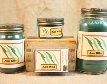 Axe Kilo Type Candle, Scented Candles and Wax Melts, Highly Scented Male Fragrance Candles and Wax Tarts, Masculine Candle, Gift for Him
