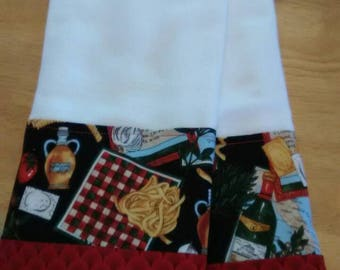 Kitchen towels with a little Italian flair.